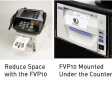 Reduce Space with the FVP10/FVP10 Mounted Under the Counter