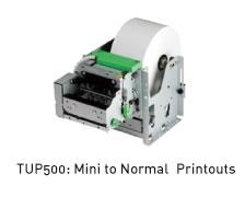 TUP500:Mini to Normal Printouts