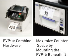 FVP10:Combine Hardware/Maximize Counter Space by  Mounting the FVP10 Beneath It