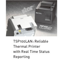 TSP100LAN: Reliable Thermal Printer  with Real Time Status Reporting