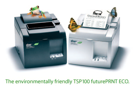 The environmentally friendly TSP100 futurePRNT ECO