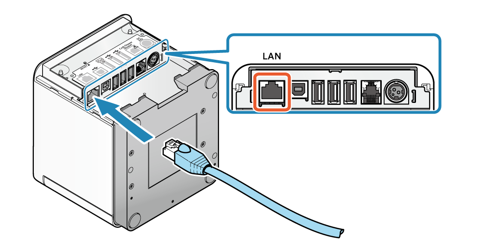 Connect Lan Cable Mc Print3 Online Manual