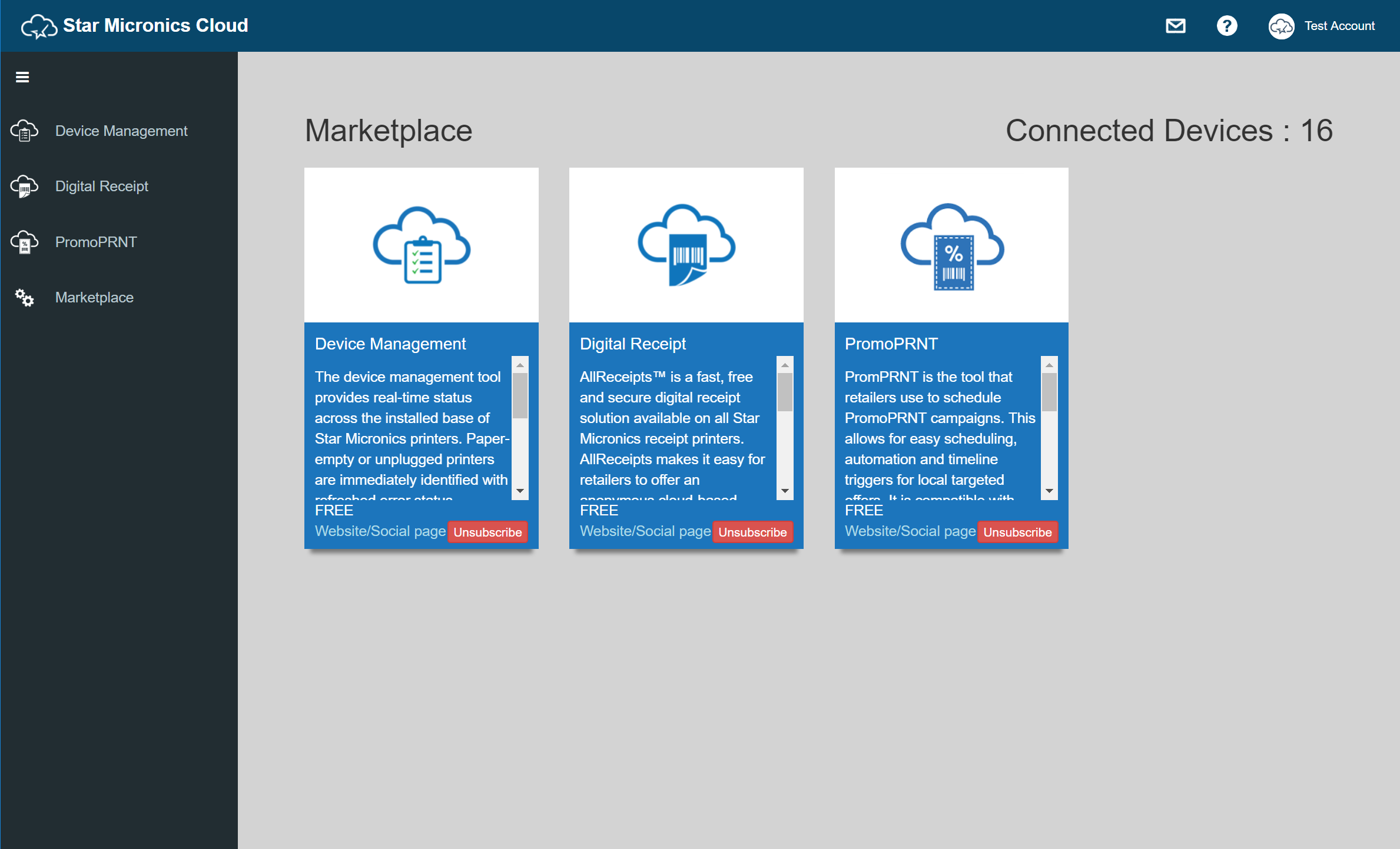 Use Star Micronics Cloud Services: mC-Print3 Online Manual