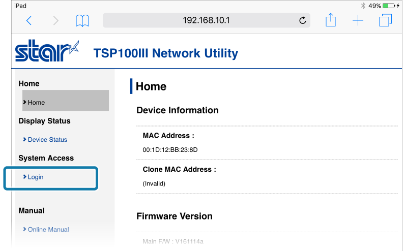 Connect Tablet/PC: TSP100IIIW Online Manual